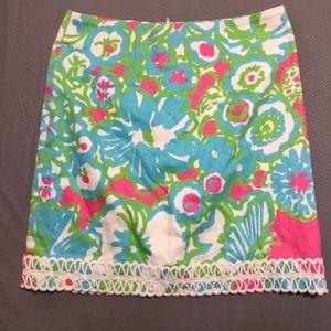 Lilly Pulitzer skirt size 2 flora print skirt